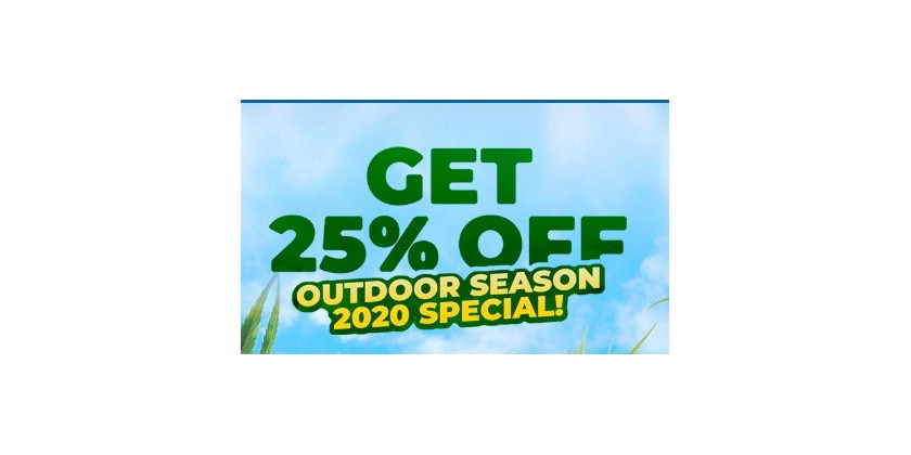 25%off special for Outdoor Season 2020!